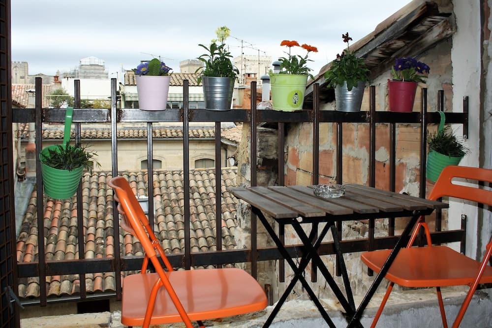 """Appartement Duplex Confort, salle de bains privée (Duplex """"Sweet Cotton"""") - Vue depuis le balcon"""