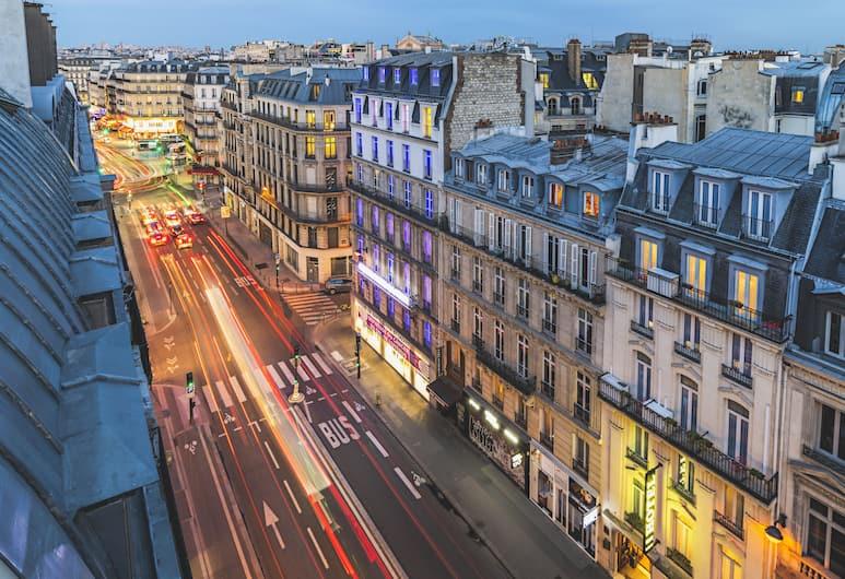 Le Belleval, Paris, Einzelzimmer, Blick auf die Straße