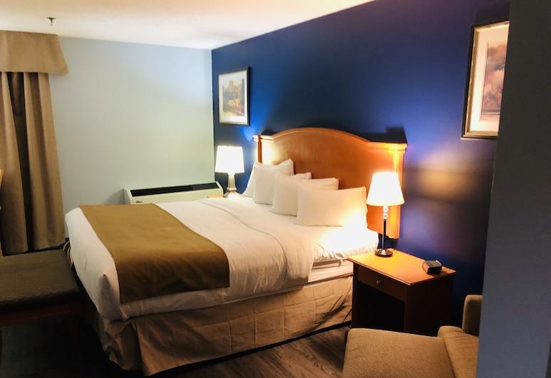 Hotel Northern Star, Slave Lake, Quarto Individual Deluxe, 1 cama king-size, Quarto