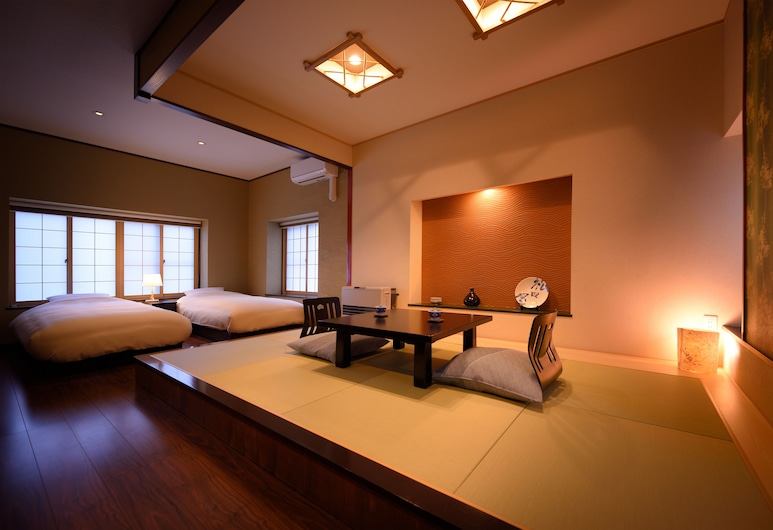 Matsudaya Ryokan, Hanamaki, Suite, Non Smoking (Semi Open-Air Bath, Kewaashizaka), Bilik Tamu