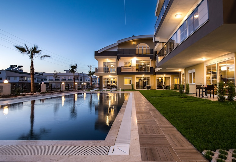 Lara Beach Homes, Antalya, Front of property - evening