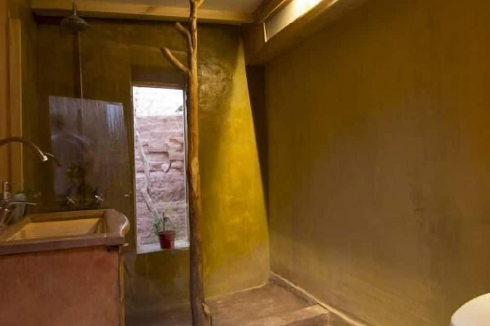 Zelt, 2Einzelbetten, Gemeinschaftsbad - Badezimmer