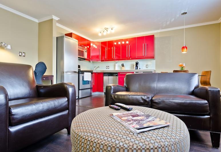 Zen Lofts, Calgary, Studio Suite, 1 Queen Bed, Living Area