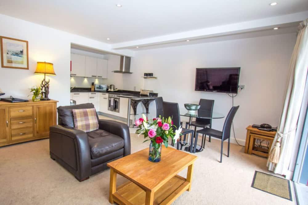 Apartamento, 1 cama queen-size - Área de Estar