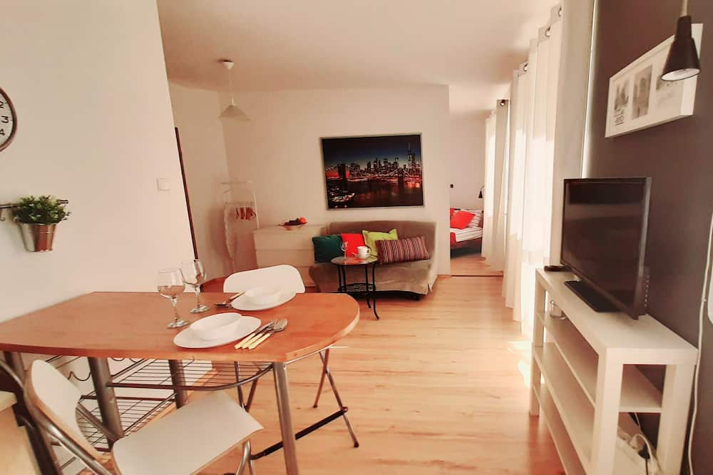 Classic Apartment, 1 Bedroom, Balcony (Przemyska Street 18) - Living Area