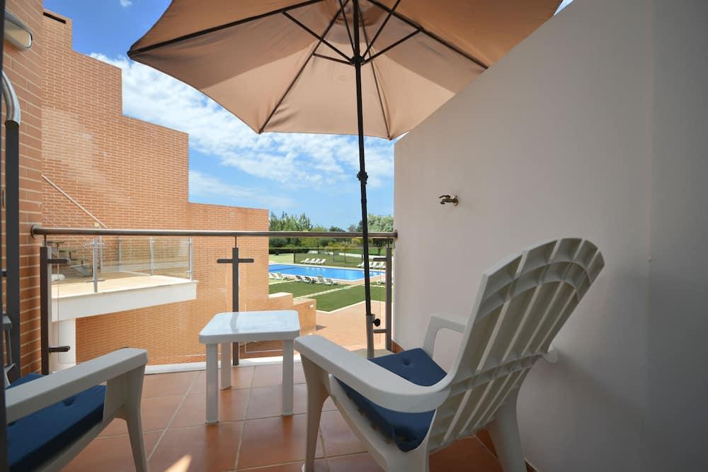 Superior apartman, 1 hálószobával, konyha, medence melletti - Erkély