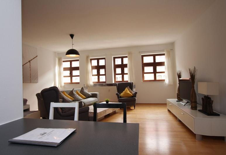 DRUSCHBA Boutique Apartment, Leipzig, Lejlighed, Opholdsområde
