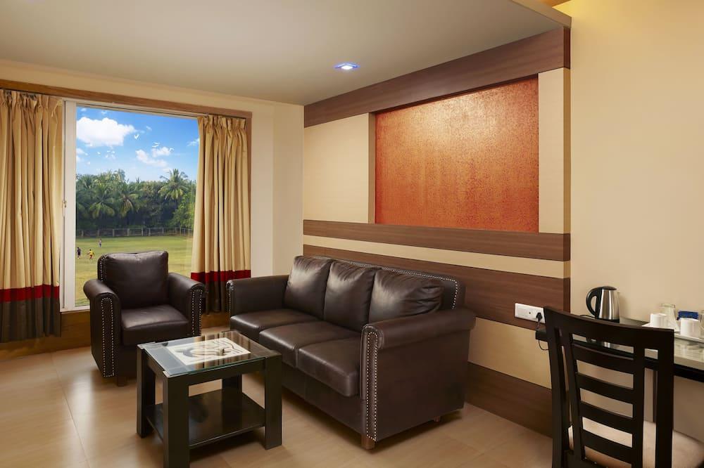חדר סופריור זוגי או טווין, חדר שינה אחד - אזור מגורים