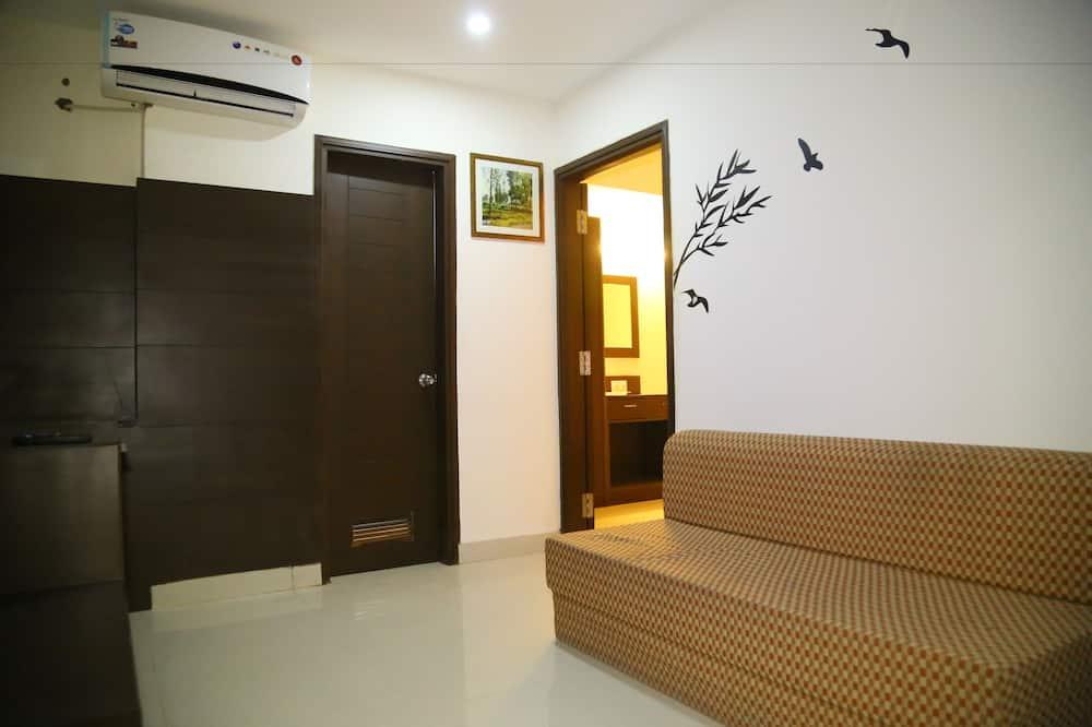 غرفة مزدوجة أو بسريرين منفصلين - منطقة المعيشة