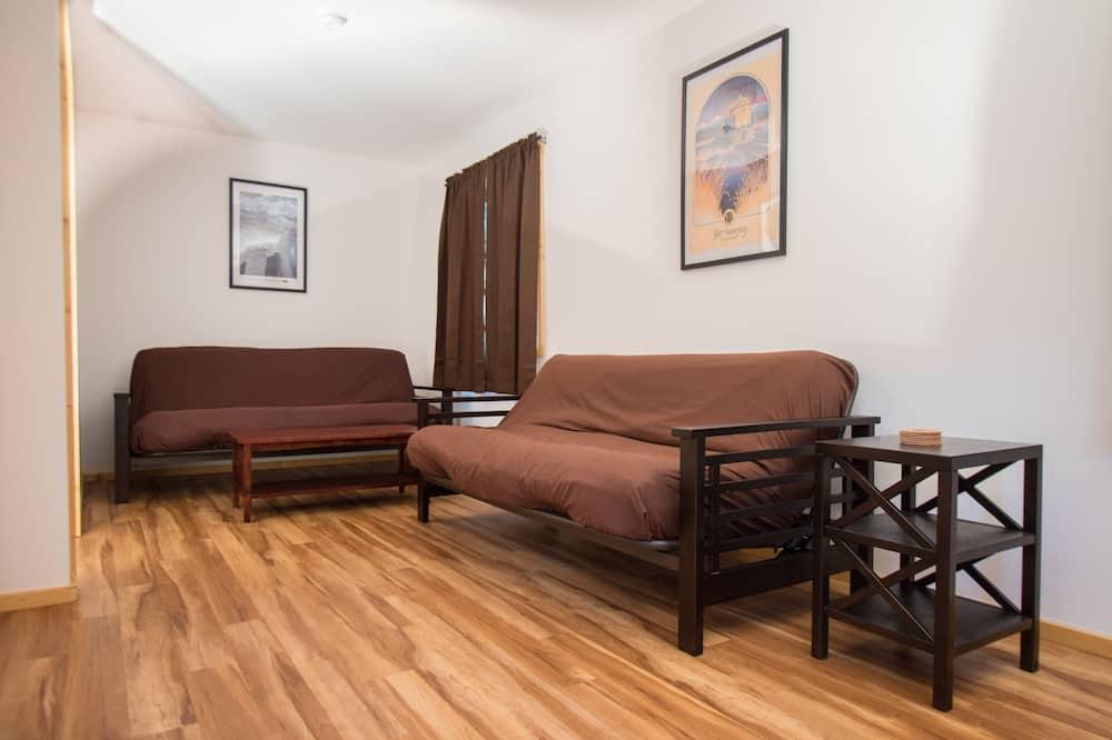 Rodinná chatka, 1 spálňa, súkromná kúpeľňa, výhľad na park - Obývačka