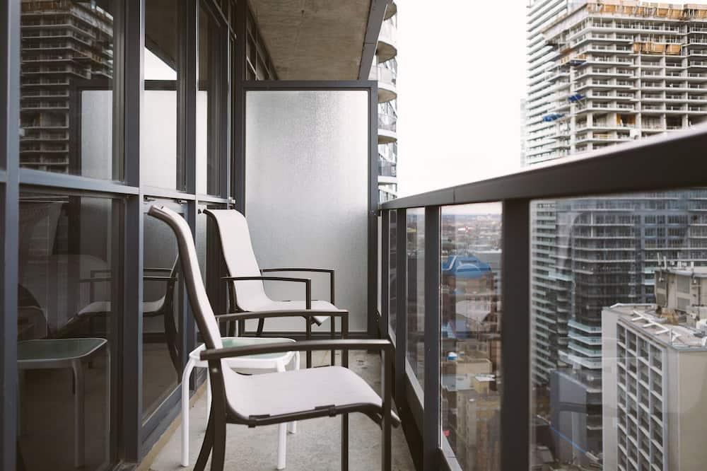 Lägenhet City - 1 sovrum - kök - utsikt mot staden - Balkong