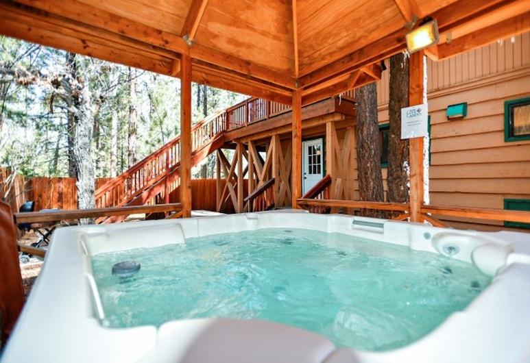 Summit Escape Lodge, Danau Big Bear , Bathtub Spa Luar Ruangan