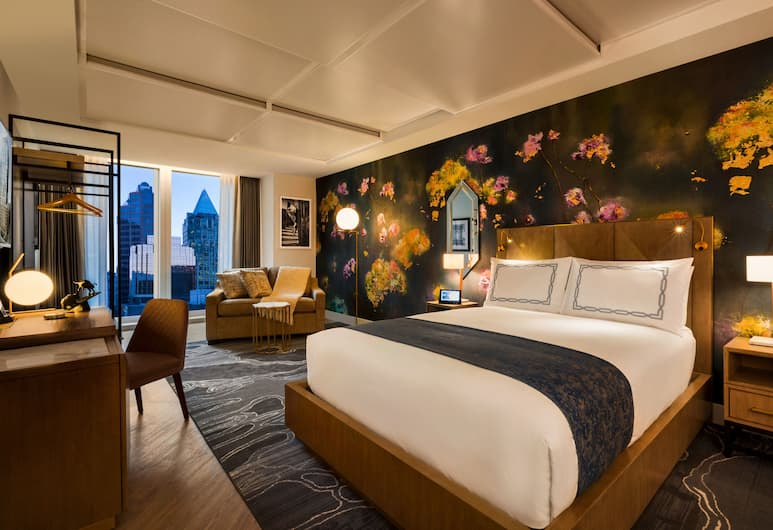 익스체인지 호텔 밴쿠버, 밴쿠버, 슈피리어룸, 퀸사이즈침대 1개, 객실