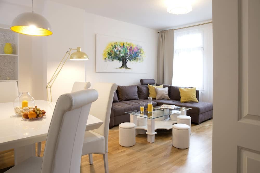 Apartamentai verslo klientams, atskiras vonios kambarys (Eutritzscher Straße 8) - Kambarys