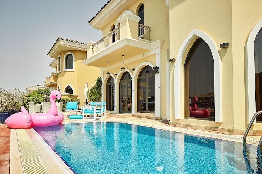 Villa, sešas guļamistabas, skats uz pludmali - Āra baseins