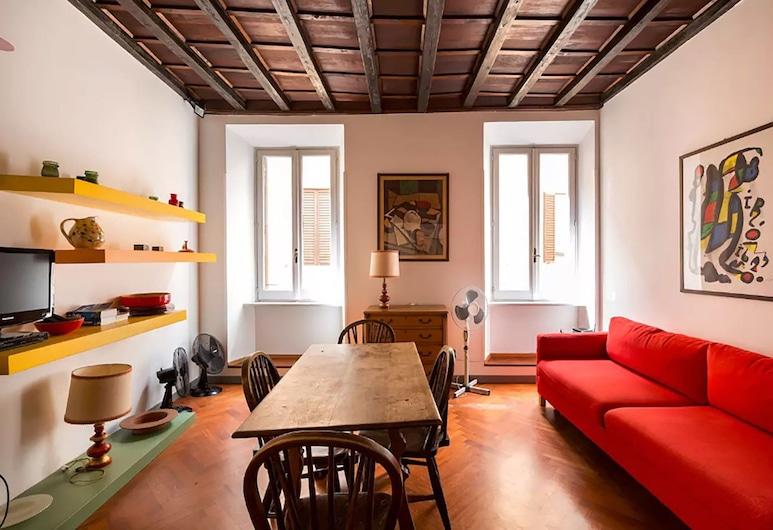 德羅索住宅酒店, 羅馬, 公寓, 2 間臥室, 城市景, 客廳