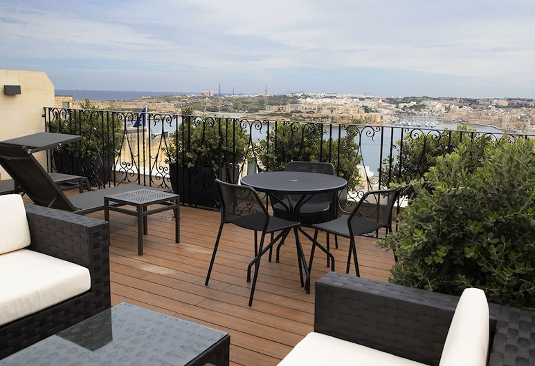 Palazzo Jean Parisot Boutique Suites, Valletta, Terrass