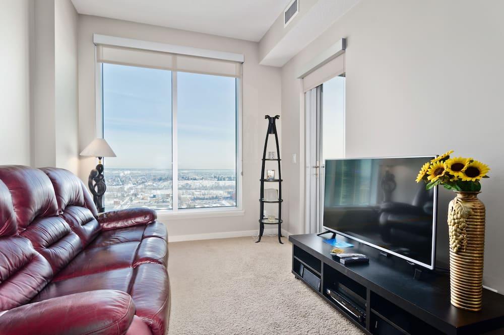 City Suite, 1 Queen Bed, City View - Living Room