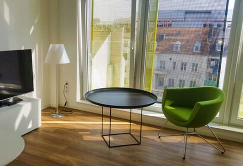 Domapartments Aachen City, Aachen, Studio (Apartment), Ruang Tamu
