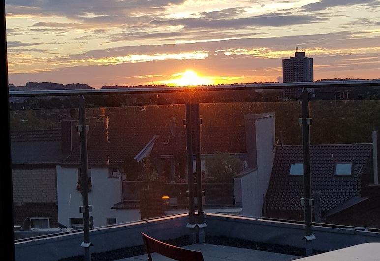 Domapartments Aachen City, Aken, Penthouse, 1 queensize bed (Apartment), Uitzicht op de stad vanuit de accommodatie