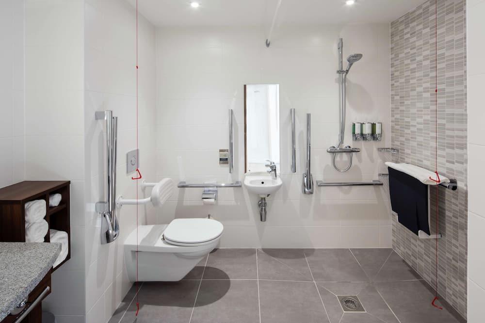 ห้องพัก, เตียงควีนไซส์ 1 เตียง, พร้อมสิ่งอำนวยความสะดวกสำหรับผู้พิการ - ห้องน้ำ