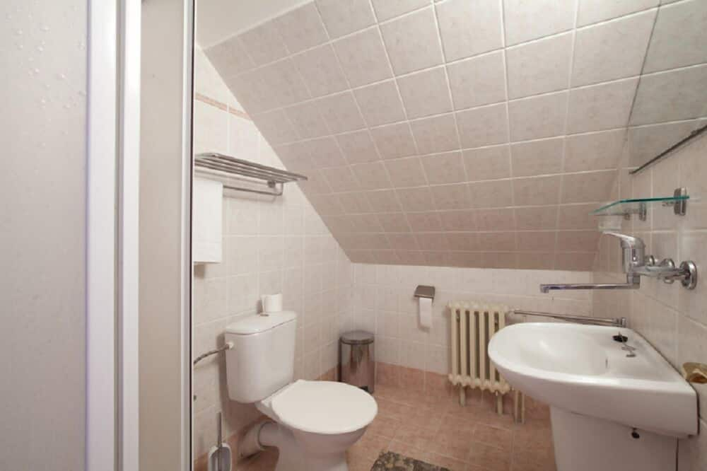 Ekonominės klasės dvivietis kambarys, bendras vonios kambarys - Vonios kambarys