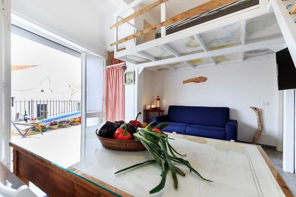 Studio, kuchyně - Obývací prostor