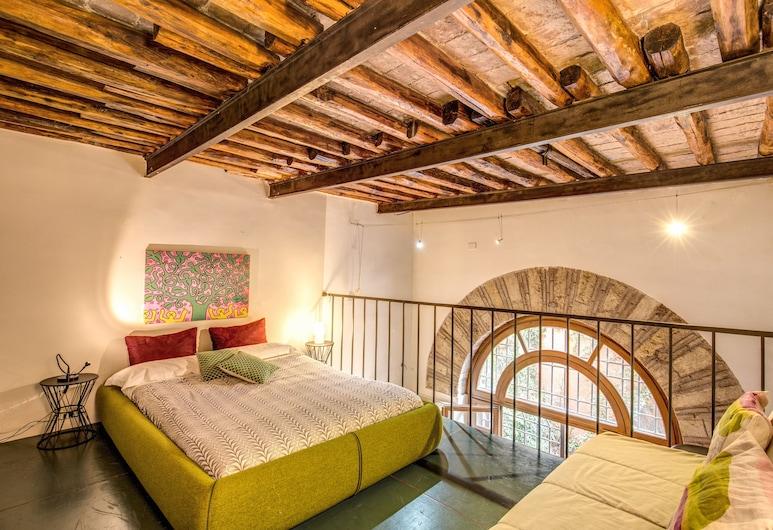 Downtown Trastevere, Roma, Design Çatı Katı (Loft), 2 Yatak Odası (Via della Penitenza 3b), Oda
