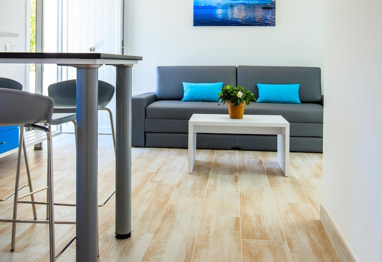 Pinos Playa Suites, Formentera, Apartamento, 1 Quarto, Sala de Estar