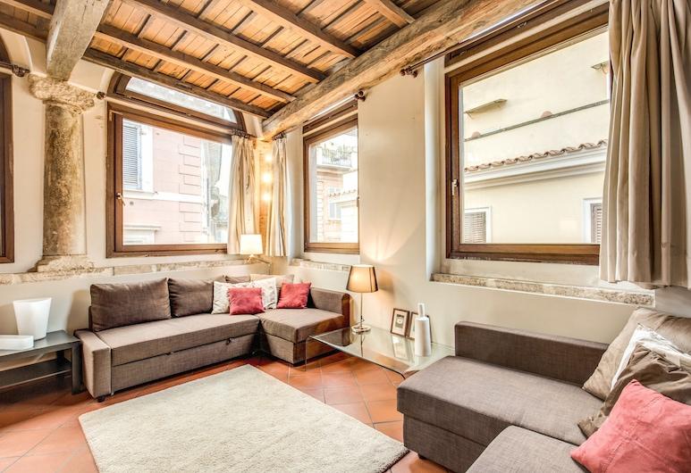 那沃納市中心酒店, 羅馬, 樓中樓客房, 1 間臥室, 高層 (Vicolo Savelli 2), 客廳