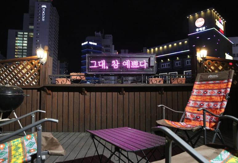 Park's Pension Haeundae, בוסאן, מרפסת/פטיו