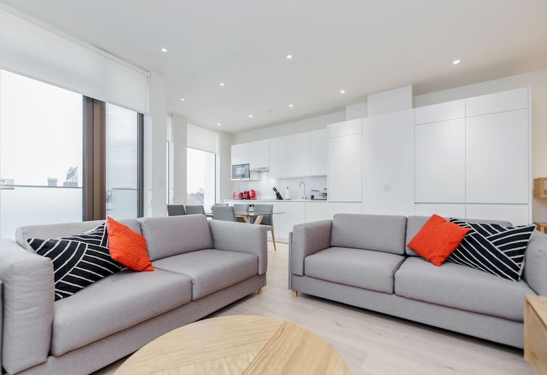Stayo Waterloo, London, Chic 2 bed at Pear Place with balcony - PP07, Living Room