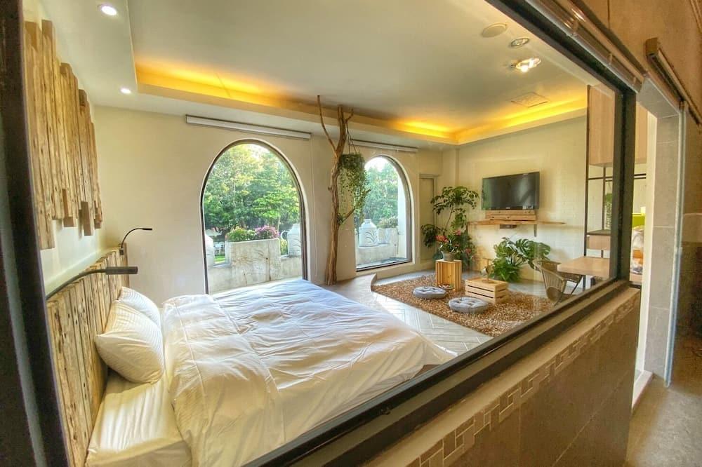 浪漫雙人或雙床房, 1 間臥室, 陽台, 花園 - 浴室
