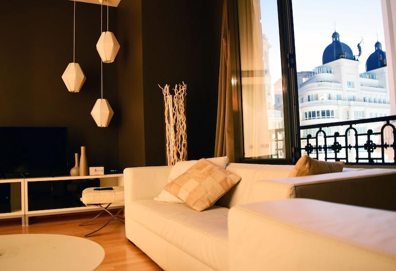 Madrid Suites Gran Via, Madrid, Apartamento, 2 Quartos, Sala de Estar