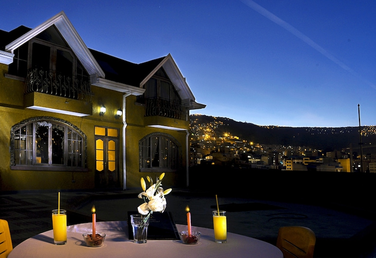 Sajama Hotel Restaurant, La Paz, Innenhof