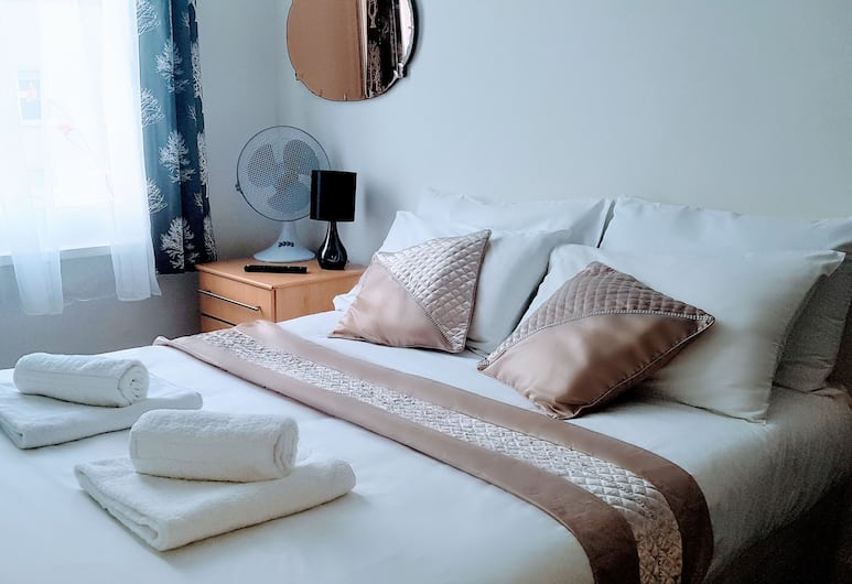 Central Comfort Rooms, Londýn, Dvoulůžkový pokoj, společná koupelna, Pokoj