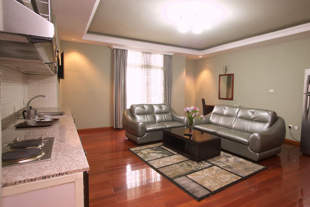 Family Apartment, 2 Bedrooms, City View - Living Area