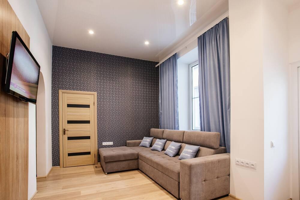 غرفة جونيور - غرفة نوم واحدة - منطقة المعيشة