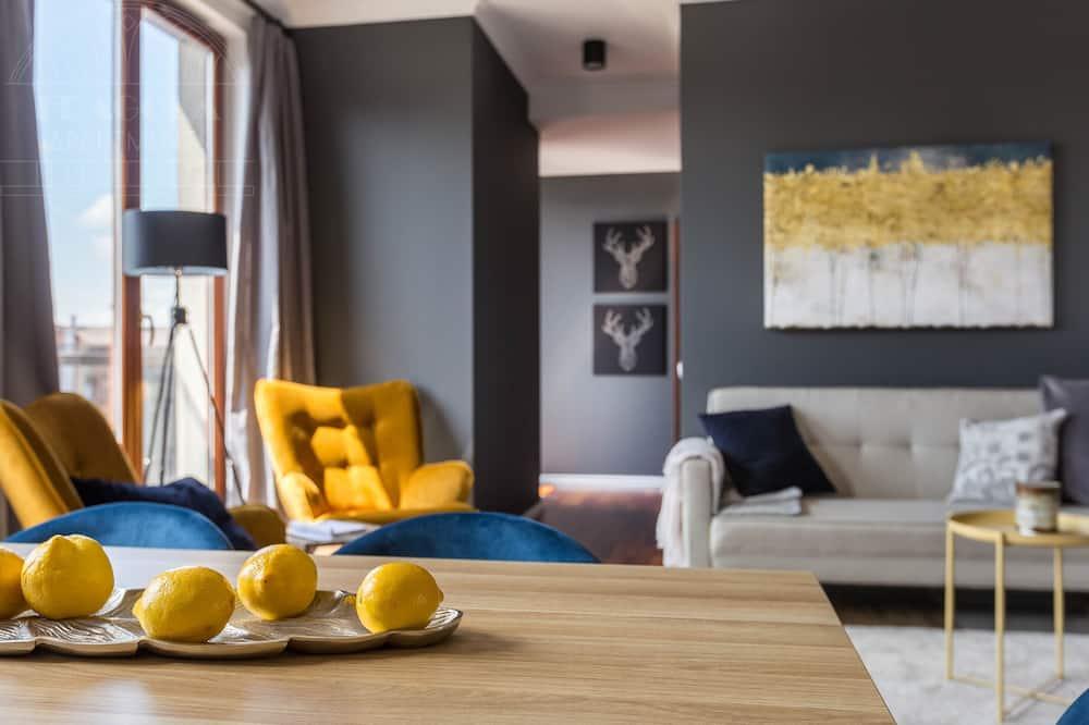 Apartament typu Exclusive, 2 sypialnie, balkon, widok na miasto (Krzywa 8 Street) - Powierzchnia mieszkalna