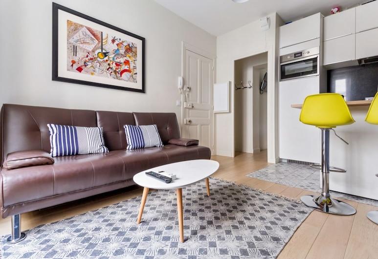 拉丁區穆浮達公寓酒店, 巴黎, 都會公寓, 1 張加大雙人床及 1 張梳化床, 客廳