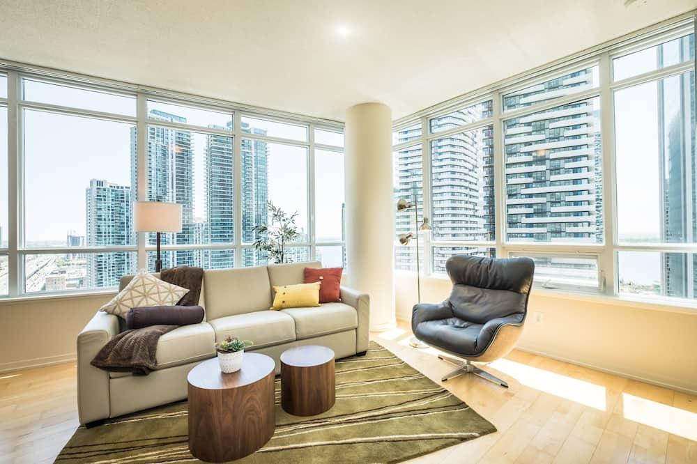 Condominio Premium, 2 habitaciones, balcón, vista a la ciudad - Sala de estar