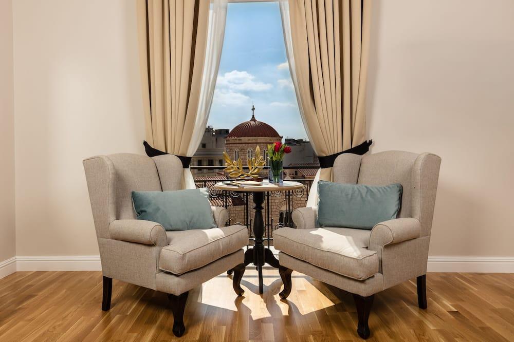 Lúxusherbergi með tvíbreiðu rúmi (Mansion Corner) - Stofa