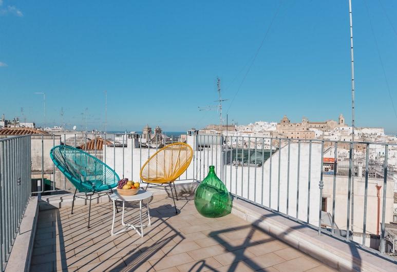 Arcuève Dimora con Vista, Ostuni, Apartemen Keluarga, Teras/Patio
