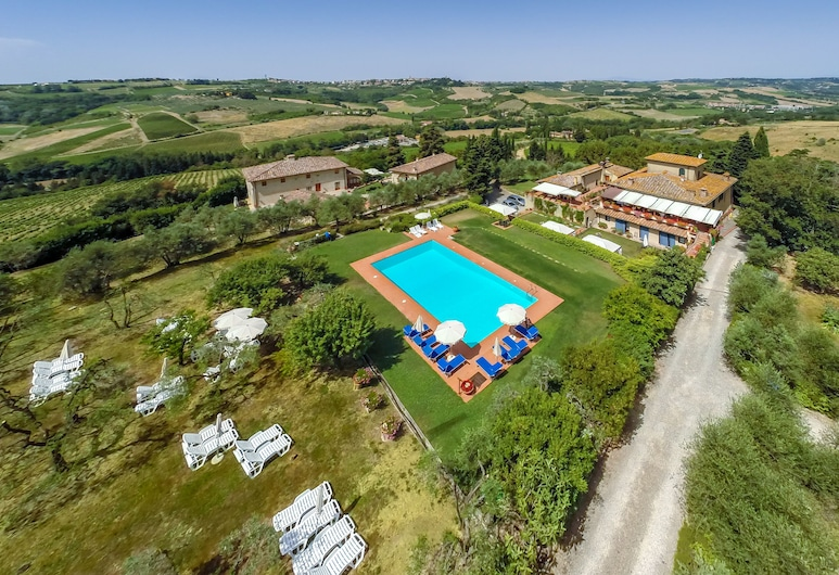 Rondini Blu, Montespertoli, Ansicht von oben