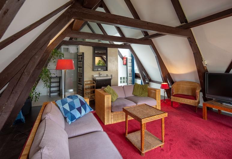 암스테르담 하우스 호텔, 암스테르담, 클래식 아파트, 별관, 거실