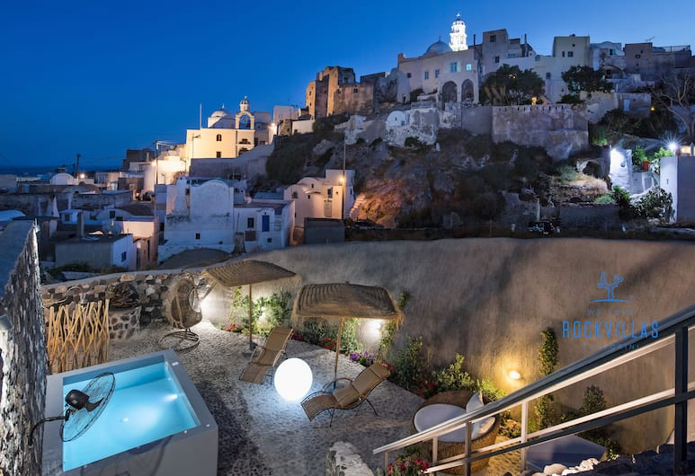 Rock Villas, Santorini, Villa, 5 Bedrooms, Jetted Tub (Castle View), View from room