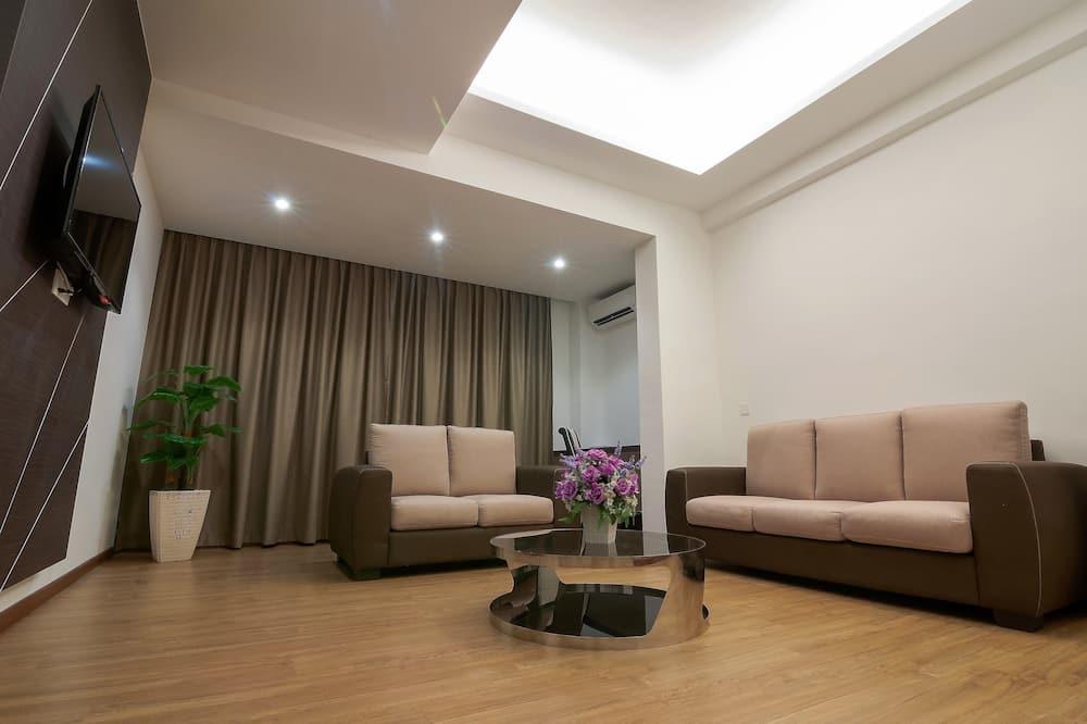 Augstākās klases luksusa numurs, divas guļamistabas - Dzīvojamā zona