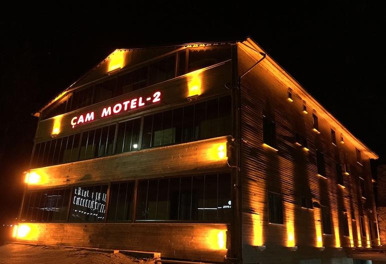 كام موتل, Çaykara, واجهة الفندق - مساءً /ليلا