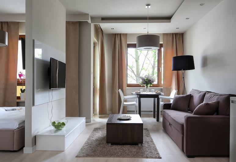 蕭邦聯合公寓酒店, 華沙, 高級公寓, 1 間臥室, 客廳