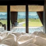 Pokoj Deluxe s dvojlůžkem, balkon, výhled na hory - Balkón
